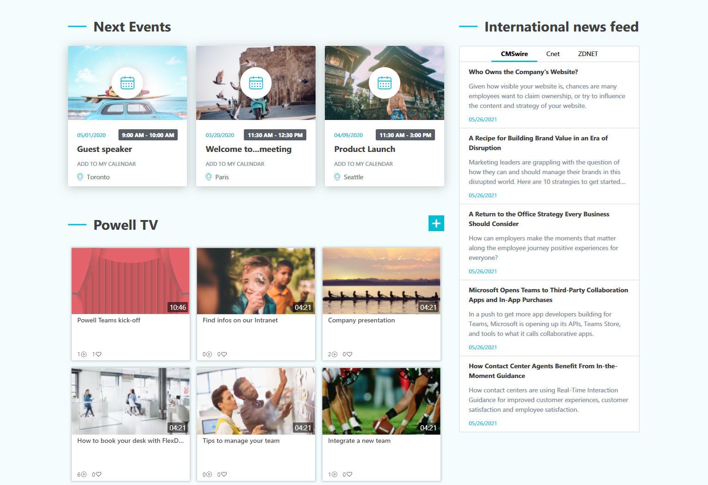 Internationale Veranstaltungen, Nachrichten und Videos im Überblick