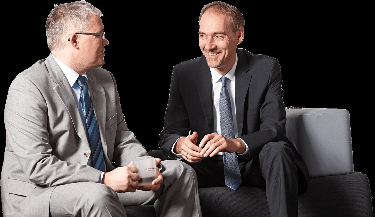 Uwe Ulbrich, Geschäftsführer und Frank Carius, Gesellschafter der Net at Work GmbH.