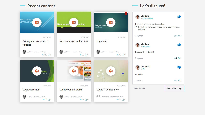 Mitarbeiter informieren und Social Media-Inhalte einbinden