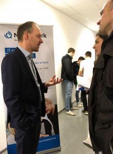 Uwe Ulbrich am Tag der offenen Tür an der FHDW Paderborn