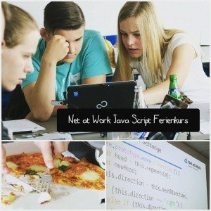 Teilnehmer des Net at Work Java Script Ferienkurses