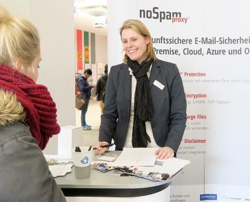 Net at Work bei der diesjährigen Firmenkontaktmesse LOOK IN! der Uni Paderborn