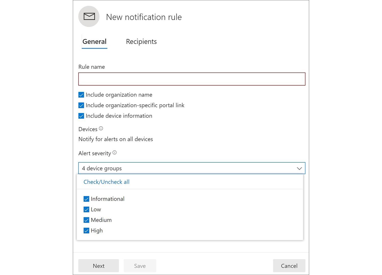 Microsoft Defender Echtzeit-Benachrichtigungen via E-Mail