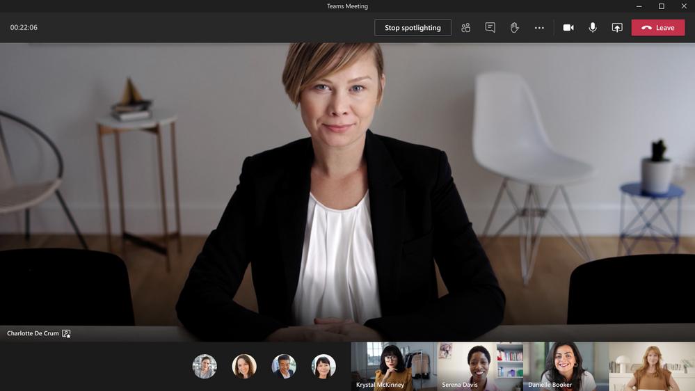 Microsoft Teams Spotlight Funktion