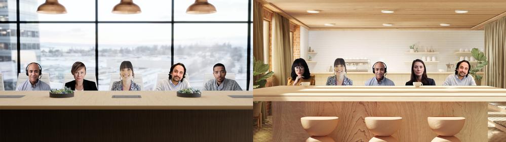 Microsoft Teams Together Mode Hintergrund Szenen