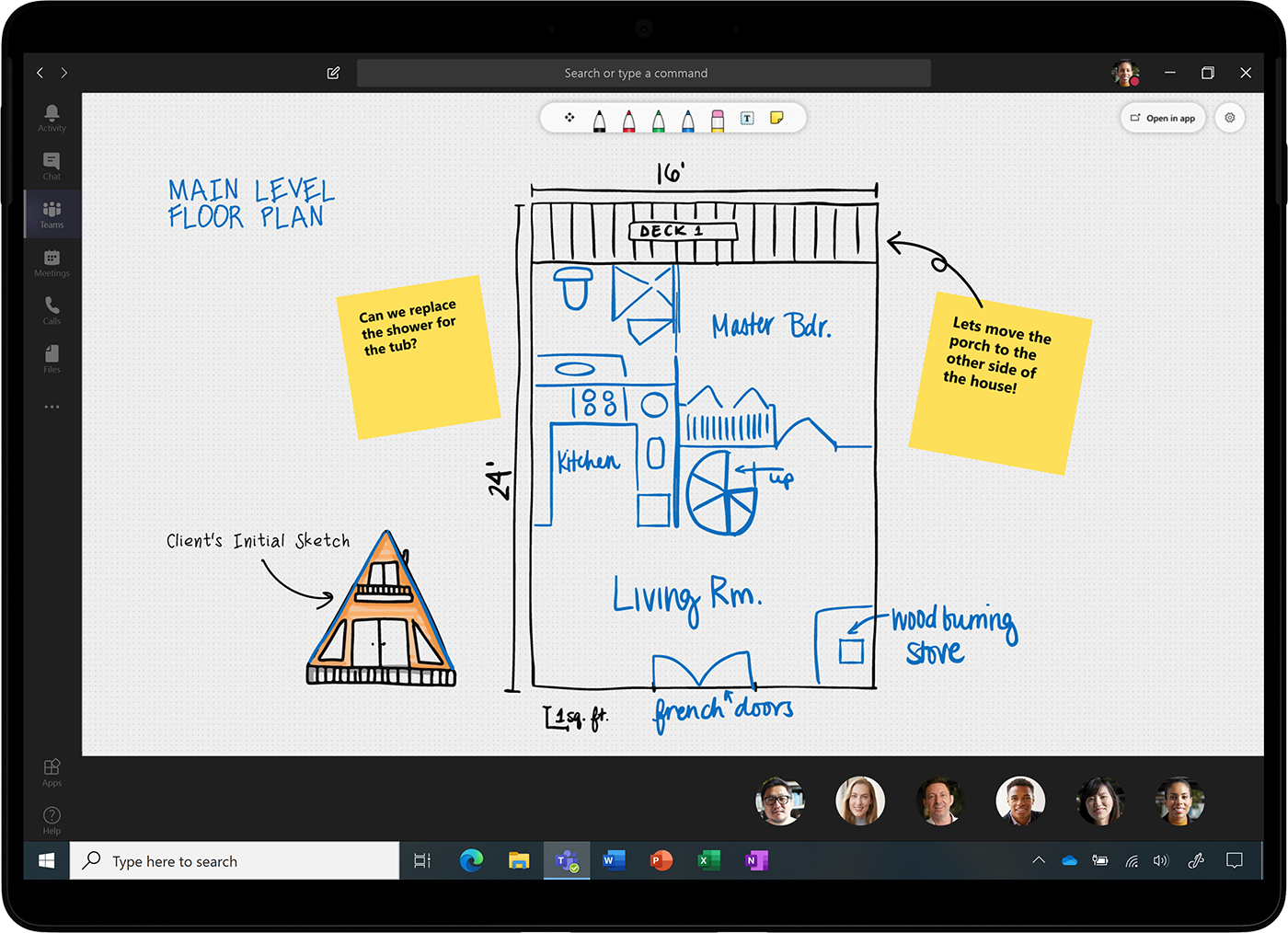 Microsoft Whiteboard in Teams Meeting