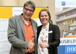 Bernd Hüffer und Daniela Henkenötter beim Speeddating 2017