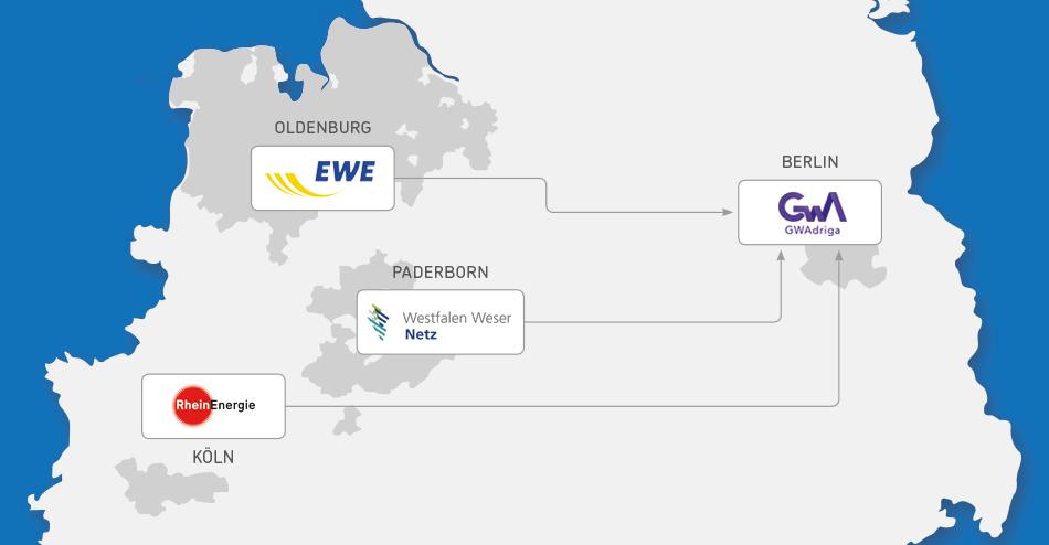 Westfalen Weser Energie Standrtkarte