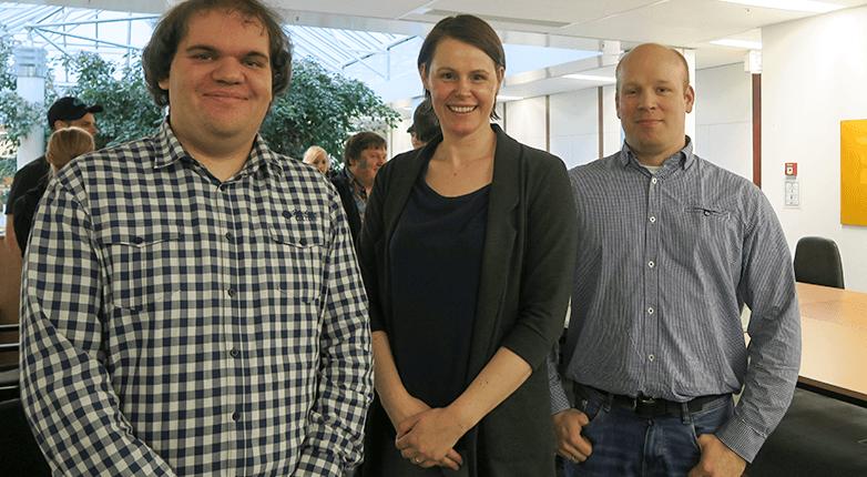 Lars, Daniela und Stefan auf der Veranstaltung zur Versionsverwaltung mit Git.