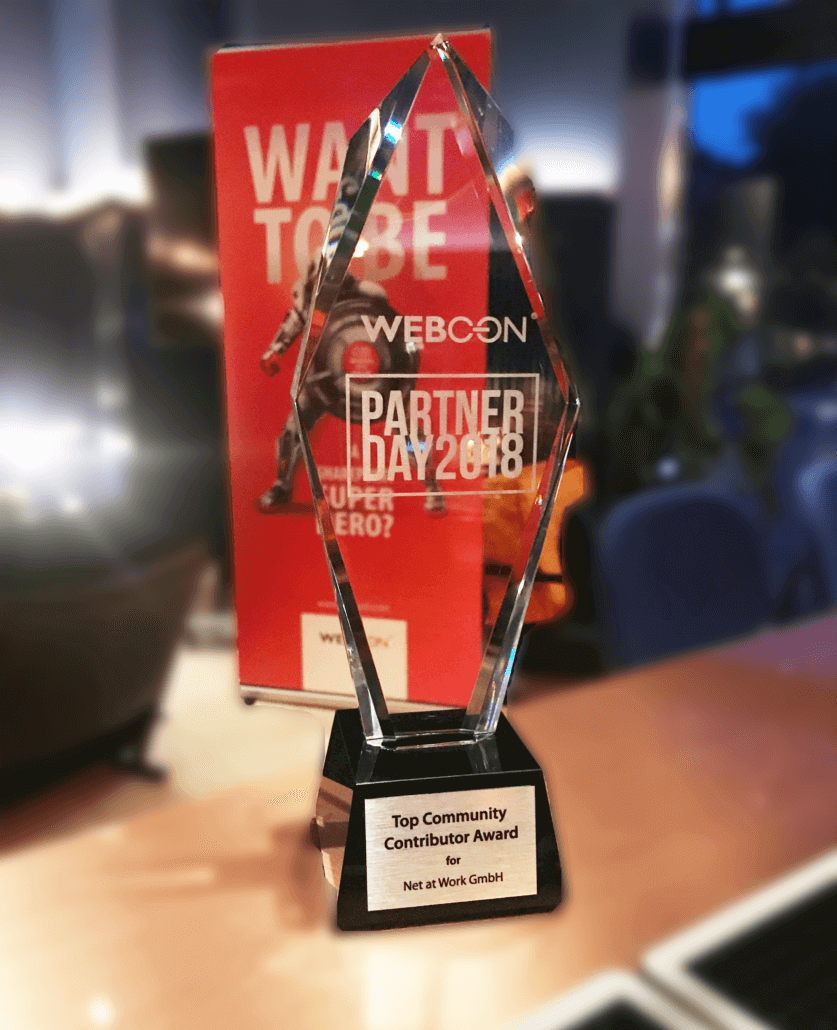 Award WEBCON Partner Day