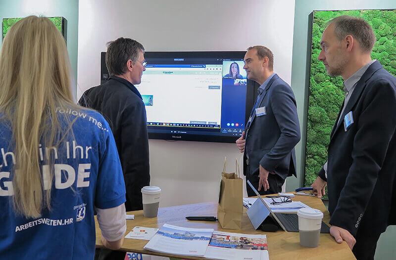 Im Homeoffice zeigte Net at Work, welche Vorteile sich durch eine zeit- und ortsgebundene Zusammenarbeit auf Basis von Skype for Business, Microsoft SharePoint und Office 365 ergeben.