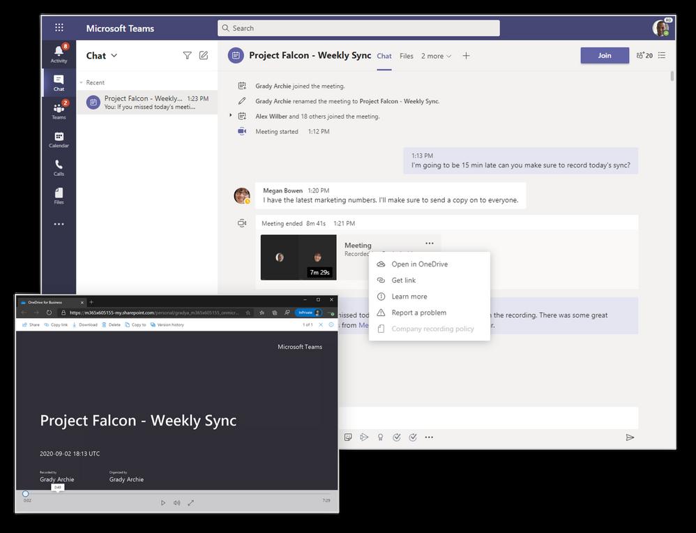 Teams Meeting Aufzeichnungen in OneDrive und SharePoint