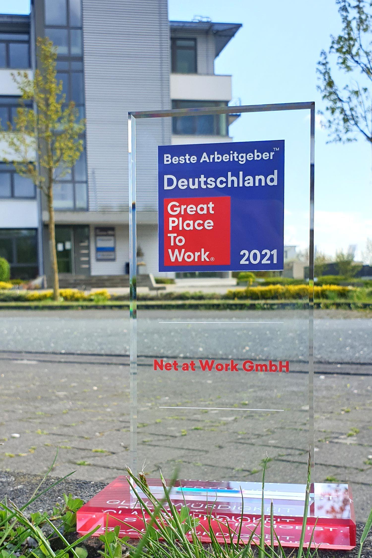 """Net at Work erhält """"Beste Arbeitgeber Deutschland 2021"""" Award von Great Place To Work"""