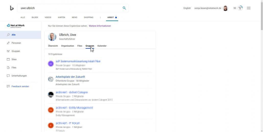 Bing-Suchergebnisse Gruppen