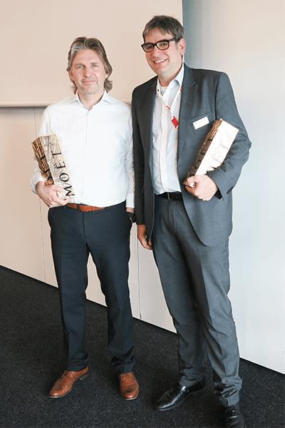 Christian Rolf und Bernd Hüffer auf dem mbuf Jahreskongress 2018