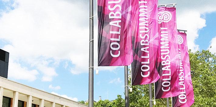 European Collaboration Summit 2019 Fahnen