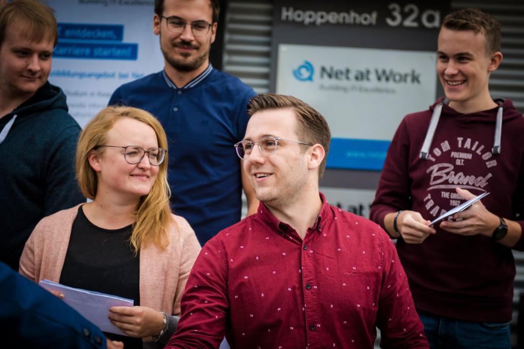 Begrüßung Net at Work Auszubildende 2019