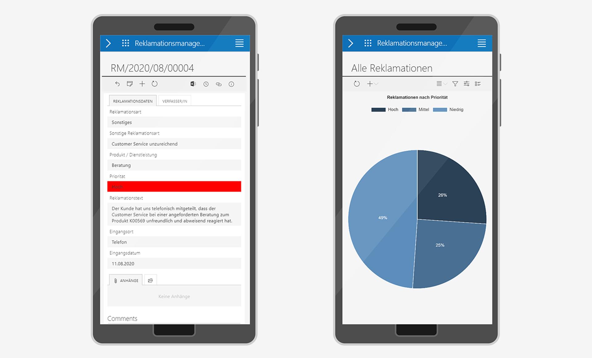 Mobile Reklamationsbearbeitung und -analyse
