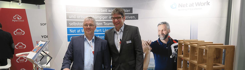Frank Carius und Bernd Hüffer am Stand auf dem mbuf Jahreskongress 2018