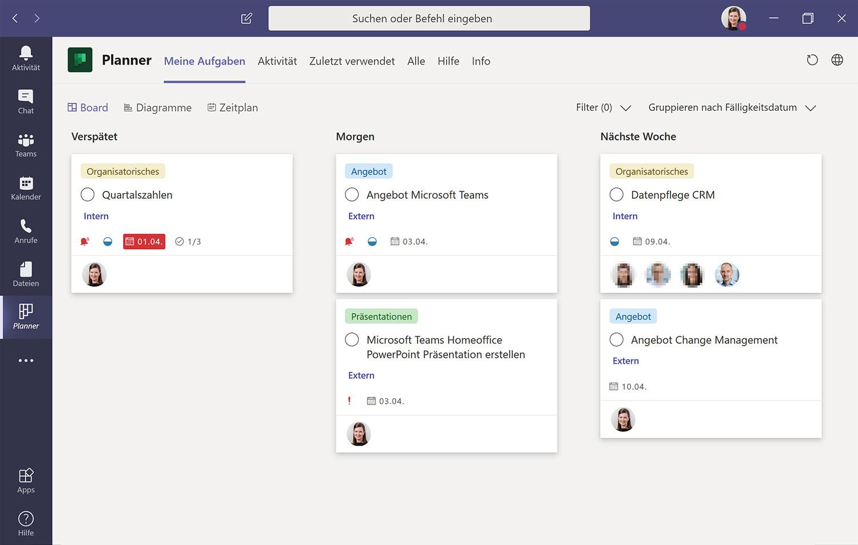 Teamarbeit mit Microsoft Planner in Teams organisieren